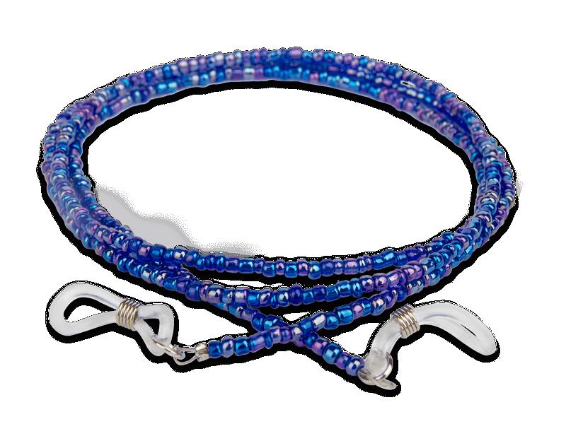 Шнур для окулярів синій - бісерний