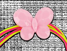 Шнур для окулярів у рожевому та жовтому кольорах - метелик
