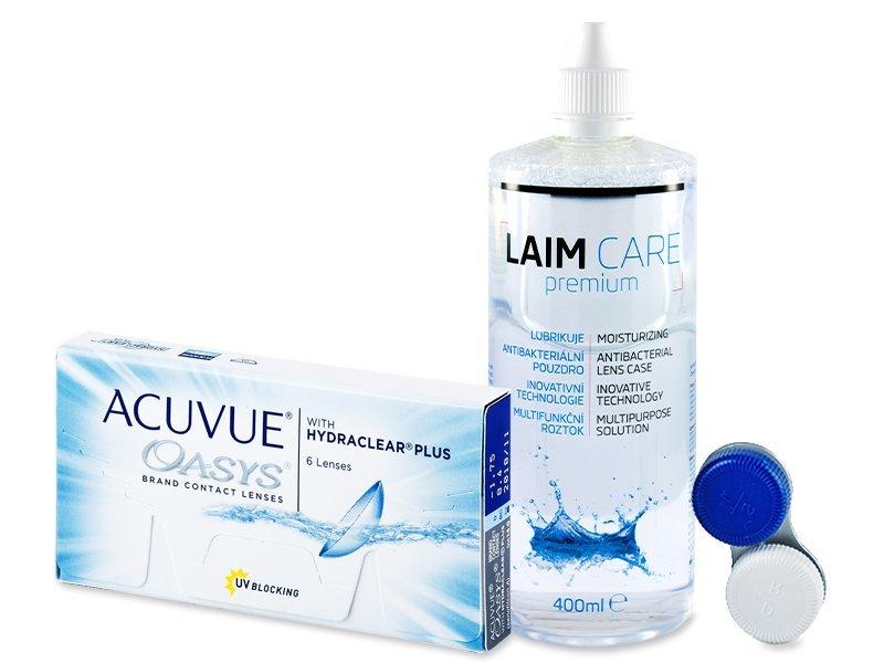 Acuvue Oasys (6шт.) + розчин LAIM CARE 400 ml